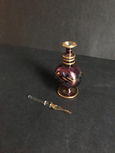 Egyptian hand blown glass perfume bottle