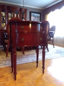 Bombay end accent night stand table de chevet commode