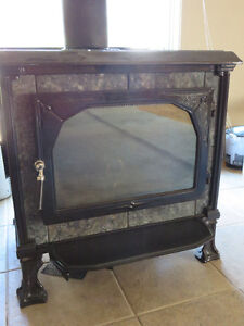 HearthStone Soapstone Wood Stove with Stovepipe & Chimney