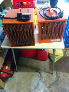 2 industrial electrical unit heaters
