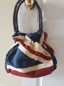 NEW Union Jack Tapestry Shoulder Bag (Red, blue and white)