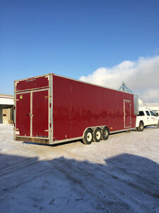 Extra long enclosed utility trailer