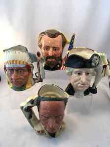 Royal Doulton Character Jugs from 10.00 and up, over 50 pieces