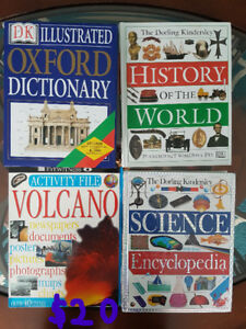 3xLarge Hardback DK Books - History/Science/Dictionary + other