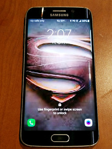 Samsung Galaxy S6 Edge 64GB = Bell= with new battery pack case