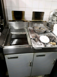 Commercial fryers and 4 burner for sale