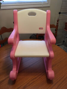LITTLE TIKES toddler size Rocking Chair  pink / white great
