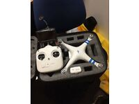 DJI phantom 2 with Zenmuse H3-HD gimbal and FPV quadcopter drone
