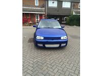 "Vw Golf 1.6 stunning rare blue 18""Alloys R32 Exhaust and Bumper low miles new MOT"