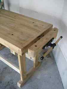 Woodworker's Bench - Solid Maple w/tail and side vises Kitchener / Waterloo Kitchener Area image 4