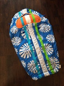 Tummy time fabric surfboard