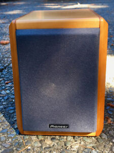 Pioneer Vintage Speaker with Wooden Exterior (2) with Amp
