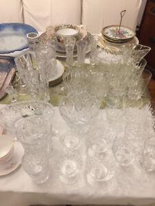 Sparkling Crystal Glasses, Vases, Gars, & Bowls: from $3 & up