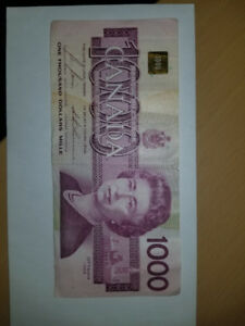 $1000 Dollar Bill / One Thousand Dollar Bill / Pinky