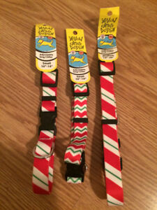 3  NEW Candy Cane Pet Collars