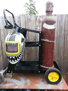 Welding Cart with Bottle and Shield - NEW