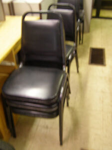 Black Vinyl Chairs