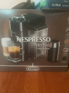 nespresso virtuo line with milk frother like new barely used