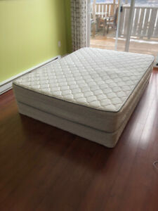 For sale:  1 double mattress and box spring.