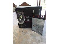 Set Of 6 Wine Glasses - Accademia Luigi Bormioli ( NEW IN BOX)