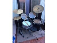 Session Pro Drum Kit with Cymbals and DOUBLE BASS PEDAL