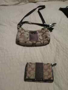 Brown Coach purse and wallet  for sale West Island Greater Montréal image 1