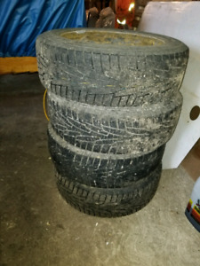 Winter tires 205/55R16 and rims 5x114.3