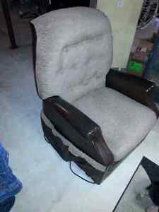 Antique recliner with heat and massage