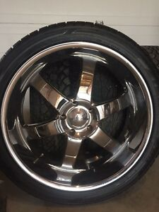 "24"" boss rims with 80% rubber Moose Jaw Regina Area image 1"