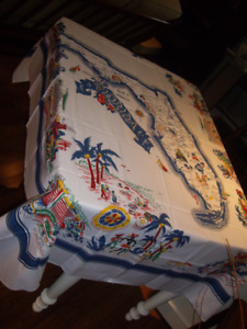 LARGE VINTAGE TABLE CLOTH (FLORIDA) # 1