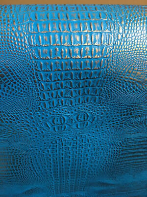 Vinyl Upholstery faux Leather Alligator Glossy 2 tone Blue on SILVER Metallic ](Alligator Costumes)