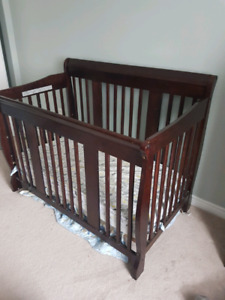 Tuscany 4 in 1 crib and change table.  Espresso finish