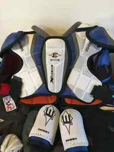 Easton shoulder and elbow pads