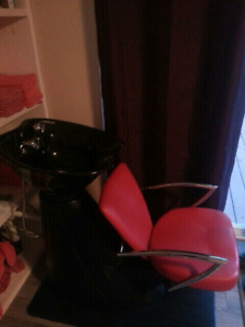 Salon Chair and Sink
