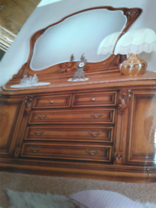 Beautiful Europa Furniture marble topped King bedroom suite