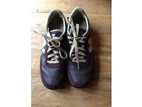Retro leather NB trainers size 6