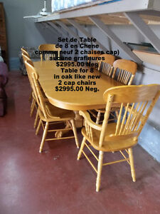 Dining table for 8 Like new, made in Malaisie very Nice $2995.00