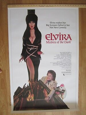 Movie Poster  Elvira  Mistress Of The Dark  1988  Original American One Sheet