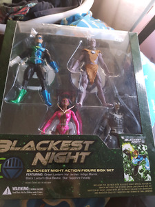Blackest night comic book & action figure set
