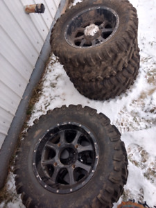 Tires & Rims off Polaris RZR + Big Gun Exhaust
