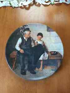 "Norman Rockwell ""The Lighthouse Keeper's..Collectable Plate"