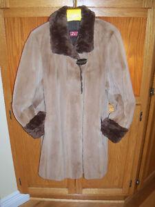 Manteau de vison rasé.