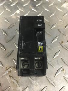 Disjoncteur de marque Square D/ 2/pôles 100A  / Clip On