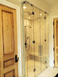 frameless shower door and mirror hardware