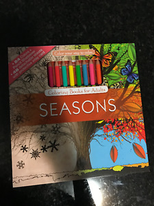 Seasons Adult Colouring Book