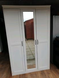 Ikea White Double Wardrobe