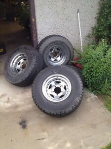 "15""  rims and tires off 95 ford f150"