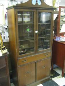 antique china cabinet / book case