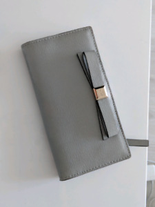 NEW LEATHER -  KATE SPADE WALLET - $100 - GRAY
