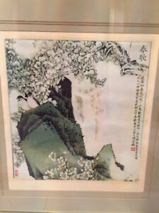 Nicely Framed Print of Famous Chinese Painting $Reduced